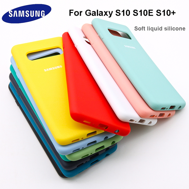 For Samsung Galaxy S10 S10 Plus S10 e Case Soft Liquid Silicone Shockproof Soft Case For Galaxy S10e Protection Cover Case 1