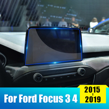 Auto Tempered Glass Car Navigation Screen Protector LCD Touch Display Film For Ford Focus 3 4 MK3 MK4 2015 2016 2017 2018 2019