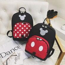 Children Backpack School-Bag Mickey Cartoon-Pattern Minnie Disney Kindergarten New