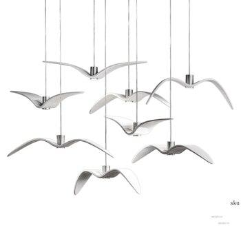 Nordic Pendant Light Kitchen Hanglamp Pendant Lamps for Living Room Bedroom Decor Lighting Designer Seagull Light Fixtures