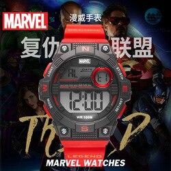 Disney серия Marvel электронные часы водонепроницаемые мужские спортивные часы для плавания 10 бар мужские подарки пластиковая пряжка Спорт