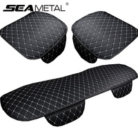 Leather Car Seat Cover Set Universal Automobiles Seat Covers Cushion Four Seasons Car Seat Protector Interior Auto Accessories|Automobiles Seat Covers| |  -