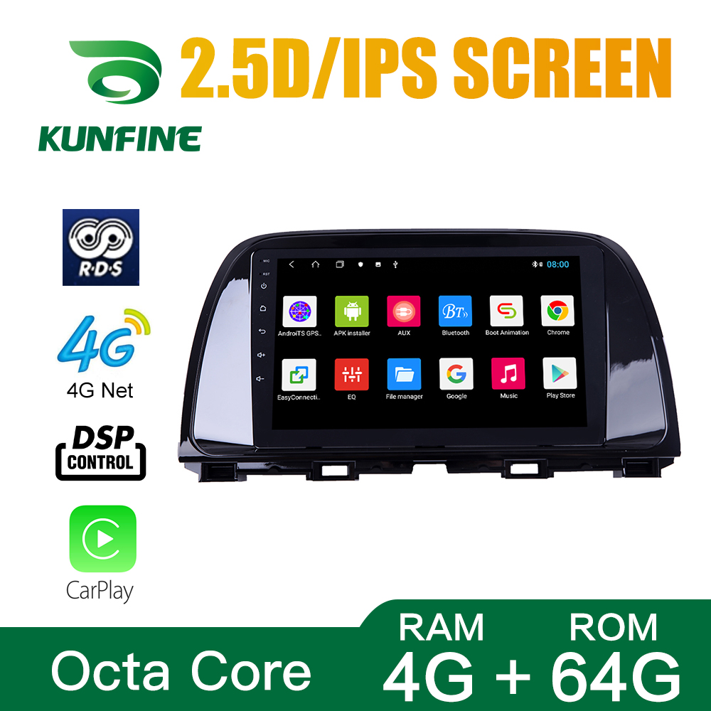 Octa Core 1024*600 Android 10.0 Car DVD <font><b>GPS</b></font> <font><b>Navigation</b></font> Player Deckless Car Stereo for <font><b>Mazda</b></font> <font><b>6</b></font> ATENZA 2014-2016 Radio image