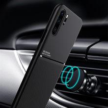 Schlank Matte Leder Fall für Huawei P40 P30 P20 Pro Lite Mate 40 20 Fall Nova 8 Ehre 10i 20i P Smart 2019 Auto Halter Abdeckung Fällen