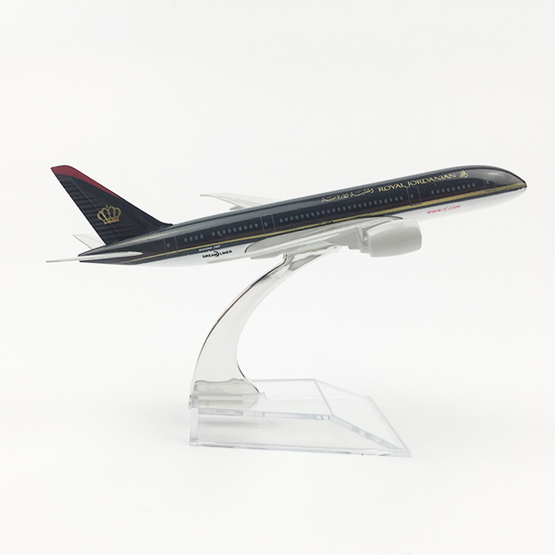 1/400 Scale Plane Model Airplane Royal Jordanian Aircraft Model Boeing 787 Airways Metal Airlines Diecast Toys Collection
