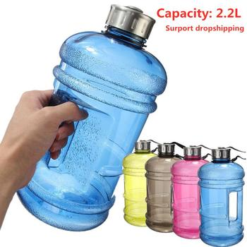 2.2L Large Capacity Drink Plastic Water Bottle Shaker Outdoor Camp Leakproof Training Gym Fitness Yoga Big Cup Bottle Water Jug