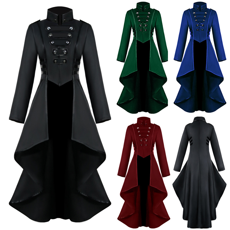 MoneRiff Women Halloween Jackets Gothic Steampunk Button Lace Corset Casual Halloween Costume Coat Tailcoat Jacket Dropshipping MoneRiff Women Halloween Jackets Gothic Steampunk Button Lace Corset Casual Halloween Costume Coat Tailcoat Jacket Dropshipping