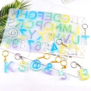 English Letter Pendant Resin Mold Large 26pcs Silicone Casting Alphabet Art Craft Tools
