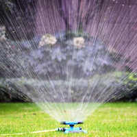 360 Degree Automatic Garden Sprinklers Watering Grass Lawn Rotary Nozzle Rotating Water Sprinkler System Garden Supplies
