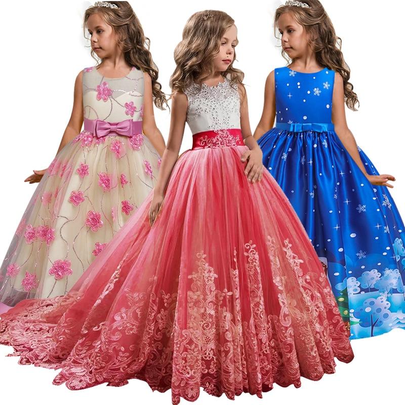 Платья для девочек на свадьбу, пышные платья, детское платье для выпускного вечера, платья для Святого Причастия для девочек, кружевные жемч...