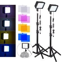 Andoer מיני USB LED אור ערכת 10W 5600K LED וידאו אור לוח + חצובה אור Stand עבור תמונה סטודיו מוצר דיוקן צילום
