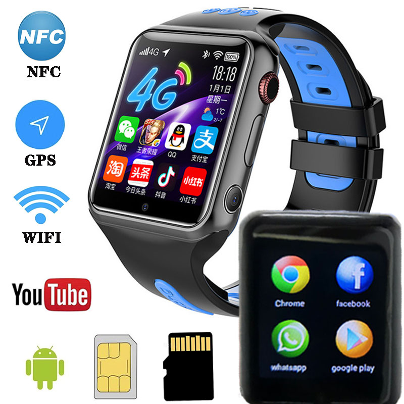 W5 Smart Watch Android 4G Support SIM Support App Download NFC Payment WiFi Bluetooth GPS Dual Camera Smart Call Watch image