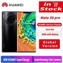 Globalna wersja HUAWEI Mate 30 Pro 30pro 8GB 256GB Smartphone 40MP potrójne kamery 32MP przednia kamera 6.53 ekran Kirin 990