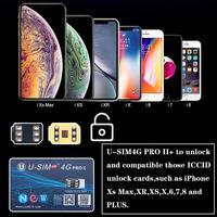 U SIM4G Pro II Entsperren SIM Karte Nano SIM Kompatibel für iOS 12 iPhone XS Max auf