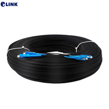 400M SC/UPC 2 Cores Indoor Drop optic patch cord single mode FTTH Drop Fiber Optic Jumper G652D Patch lead cable 2 steel 400mtr(China)