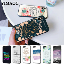 christian bible quotes jesus Silicone Case for iPhone 5 5S 6 6S Plus 7 8 11 Pro X XS Max XR
