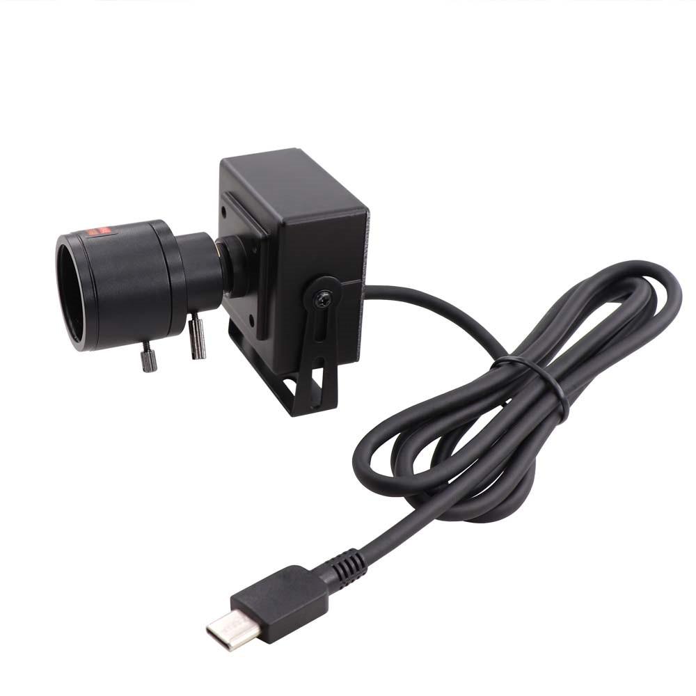Type C OTG soutien haute vitesse 330fps | 120fps, 60fps 1080P, Webcam UVC, caméra USB avec Mini étui avec objectif Varifocal 2.8-12mm