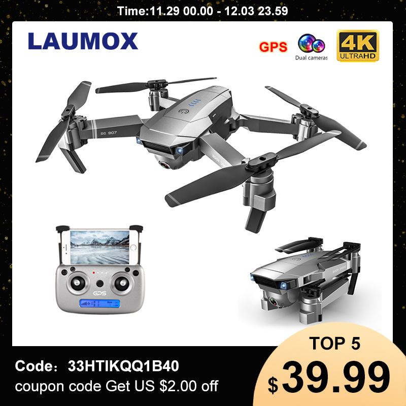 LAUMOX SG907 GPS Drone with 4K HD Adjustment Camer