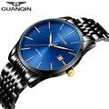 GUANQIN 2019 часы мужские модные роскошные бизнес автоматические часы с датой мужские водонепроницаемые стальные механические часы relogio masculino A