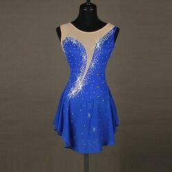 Robe de patinage artistique fille gymnastique justaucorps compétition costume robe de ballet robe de jazz DJ chanteur DS b001 B001