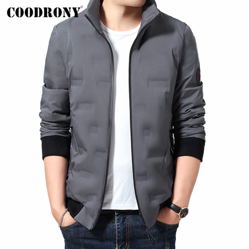 COODRONY Brand Down Jacket Men Winter Jacket Coats With Zipper Pocket 2019 New Arrival Casual Stand Collar Thick Warm Coat 98019