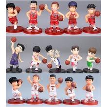 цена на 5-6CM Slam Dunk Kaede Rukawa Hanamichi Sakuragi Figure PVC Action Anime Toys To Collection Gifts Five PCS Slam Dunk Figure