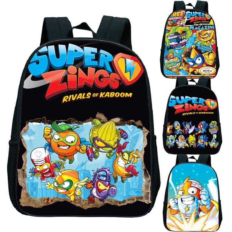 Cool Pattern Children Super Zings Kindergarten Backpack Primary Schoolbag Superzings Bookbag Rucksack Kids Start School Gift