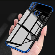 Honor 8X 8A 8c Electroplated Phone Case For Huawei 8x y6 2019 Silicone Shockproof Back 8S