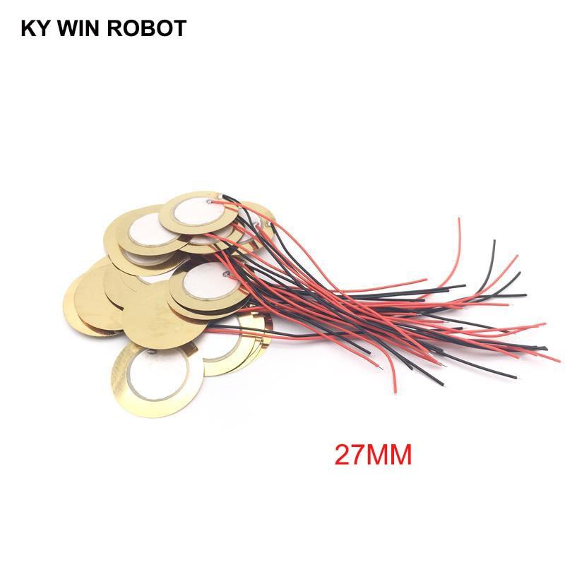 10 Pcs Piezoelectric Piezo Ceramic Wafer Plate Dia 27mm For Buzzer Loudspeaker