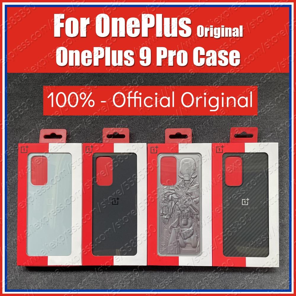 Оригинальный чехол OnePlus 9 Pro, карбоновый чехол LE2123 OnePlus 9 Pro, задняя крышка Karbon Hard песчаник, уникальный чехол-бампер Droid