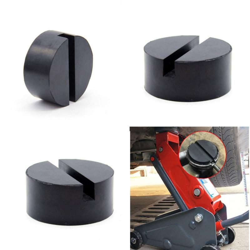 Vehicle Universal Floor Jack Disk Pad Adapter Rubber Blanket For Pinch Weld Side Rail Stand