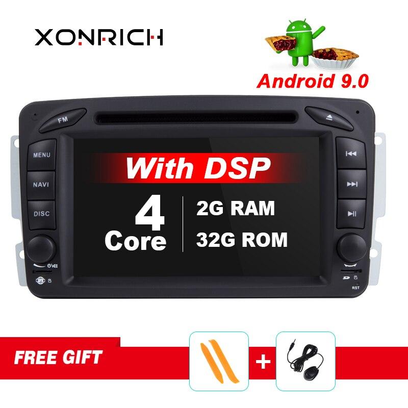 Ips Автомобильный мультимедийный плеер Android 9 2 Din gps Авторадио для Mercedes/Benz/CLK/W209/W203/W208/W463/Vaneo/Viano/Vito FM DSP DVR