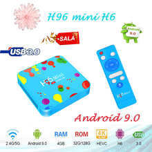 Smart tv Set Top box android boxes H96 mini H6 4G 32GB/128 H.265 6k HD Wifi Bluetooth Youtube Media Player Spain