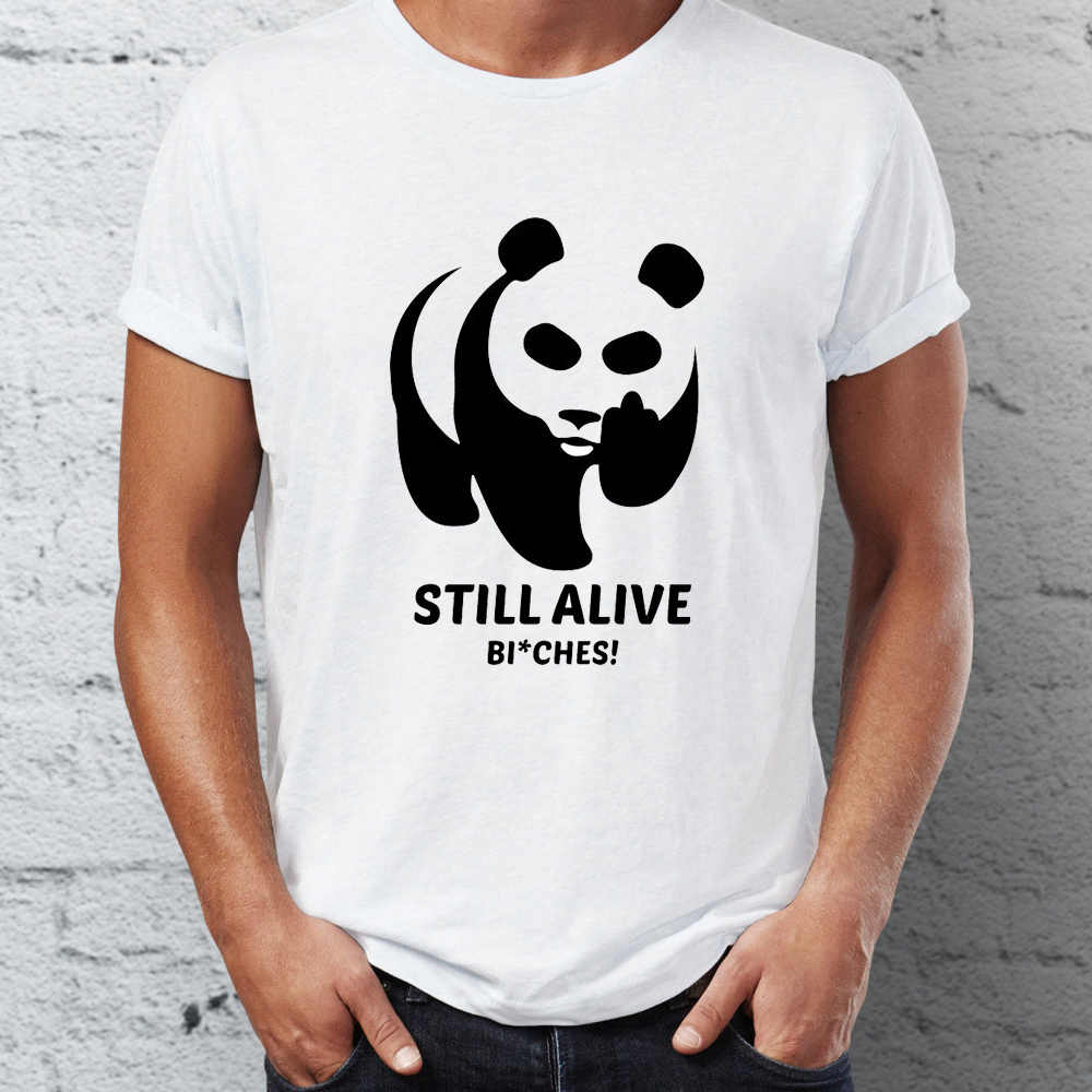 男性の tシャツハメ頃パンダまだアライブでしたに絶滅おかしいメンズ tシャツヒップホップストリート新到着男性服