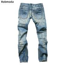 цены Men Hole etro nostalgic Straight cylinder Slim fit Light blue Jeans Destroyed Hole Taped Slim Fit Denim High Quality Jean Europe