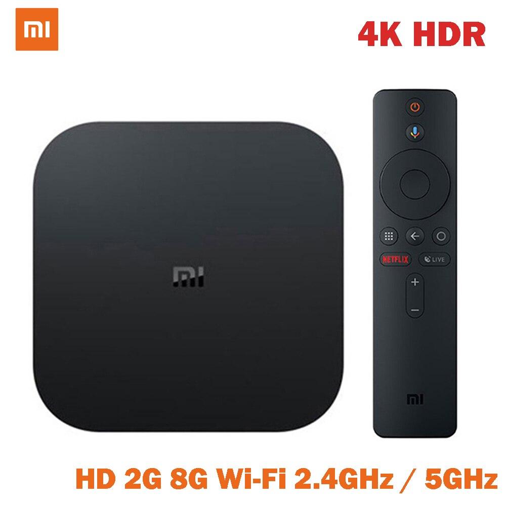 Xiao mi mi TV Box S 4K HDR Android TV 8,1 Ultra HD 2G 8G WIFI Für google Cast Netflix Set top mi Box 4 Media Player