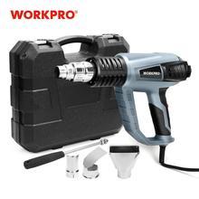 WORKPRO 220 فولت الحرارة بندقية 2000 واط الصناعية الكهربائية الساخن مسدس هواء منظم الحرارة البنادق يتقلص التفاف الحرارية سخان صندوق بلاستيكي
