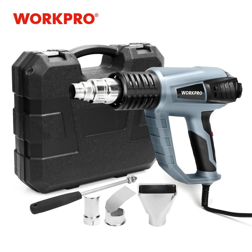 WORKPRO 220V Heat Gun 2000W Industrial Electric Hot Air Gun Thermoregulator Heat Guns Shrink Wrapping Thermal Heater Plastic Box