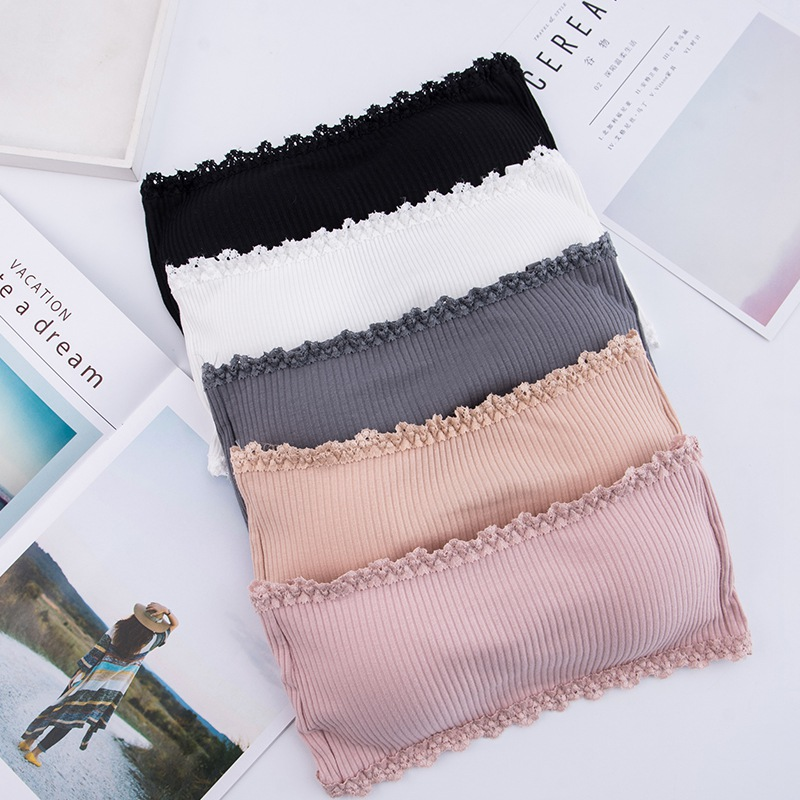 Women Seamless One-piece Tube Tops Strapless Padded Bra Bandeau Tube Top Women Intimates