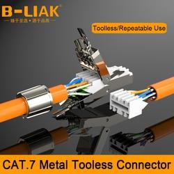 B-LIAK RJ45 8P8C STP экранированный полевой разъем-RJ45 разъем для завершения Cat.6A/7 23AWG твердый монтажный кабель