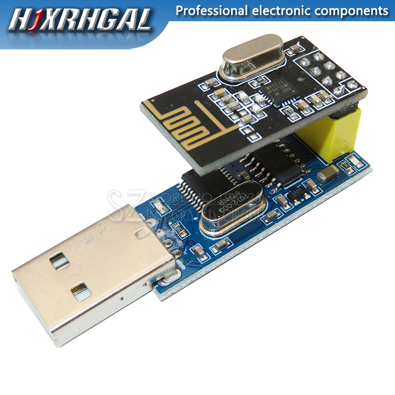 Neue CH340T USB zu Serial Port Adapter Board + 2,4G NRF24L01 + Wireless Modul Für Arduino