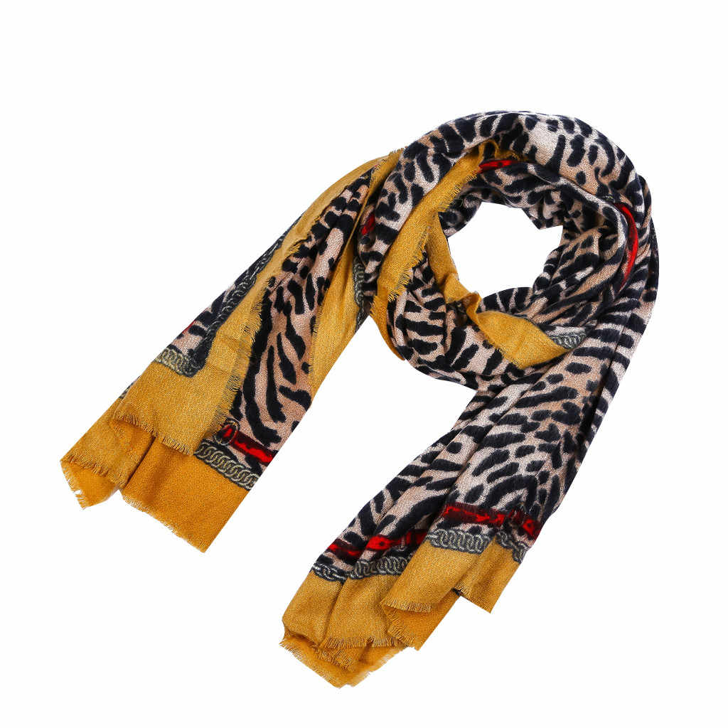 Stampa del leopardo del partito Nero big piega Del Leopardo Delle Donne Sciarpe Scialle di Pashmina Dell'involucro Della Sciarpa Scialli Coperta Caldo avvolge sciarpe lencos # y2