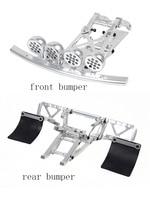 CNC metal Front and Rear Bumper Set and LED Light Pod Fit HPI Rovan Km Mcd Gtb Racing Baja 5T 5SC Truck Rc Car Parts