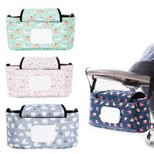 Color Baby Stroller Organizer Bag Mummy Diaper Bag Waterproof Stroller Accessories Large Capacity Detachable Pram Hanging Bag