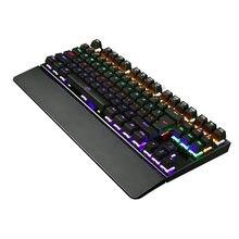 K28 игровая механическая клавиатура с подсветкой цветной светодиодный