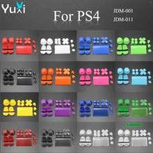 YuXi – ensemble complet de pièces de rechange pour manette de jeu Sony Dualshock 4 PS4 DS4, capuchons de poignée pour boutons, L1 L2 R1 R2