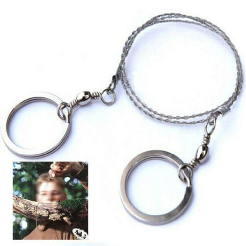 1pcs Outdoor Survival Wire Life Chain Saw Blade Emergency Portable Wire Saw Blade Life-saving Survival Wire Saw EDC Key Ring