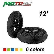 Neue 12 Roller Keine Digitale Typ Motorrad Reifen Wärmer Reifen Wärmer Abdeckungen Heizung Motorrad Zubehör