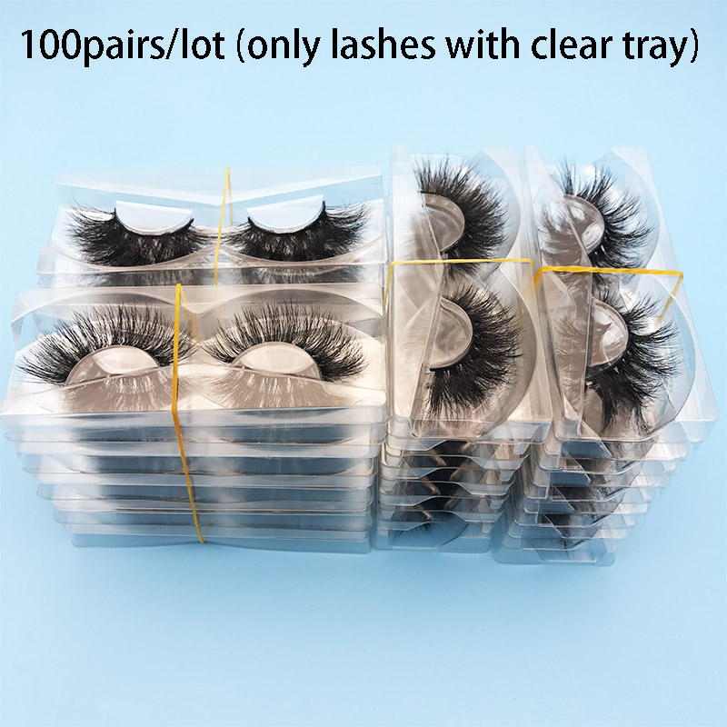 100Pairs Per Lot Mikiwi Mix Wholesale Mink Lash Private Label Custom Package 24 Styles 3D Mink Lashes  Cruelty Free Mink Lashes