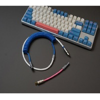 Type-C Mini USB Coiled Cable Keyboard Cable Handmade DIY  Detachable Fast Charging Aviation Connector For Mechanical Keyboard